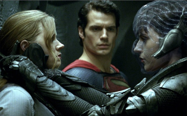 Amy Adams, Henry Cavill and Antje Traue